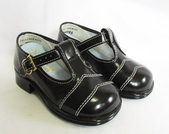 Vintage Toddler Shoes Faux Patent Leather Mary Janes Vintage 60s NOS 5
