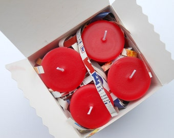 Red Dragon Soy Replacement Votive Candles 4 Pack Gift Box