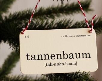 Christmas flashcard ornament set - nostalgic holiday decor - paper ornaments - gifts for teacher - gifts under 20 - Santa Claus ho-ho-ho