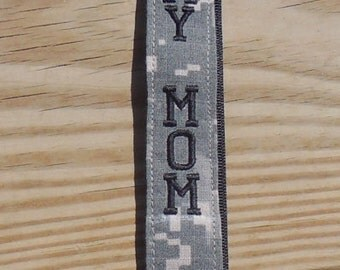 Proud Army Mom Lanyard, Military Lanyard, Army ACU Embroidered Lanyard, Armed Forces Lanyard