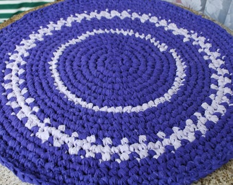 purple handmade circle rug