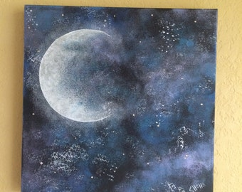 Moon Galaxy Painting