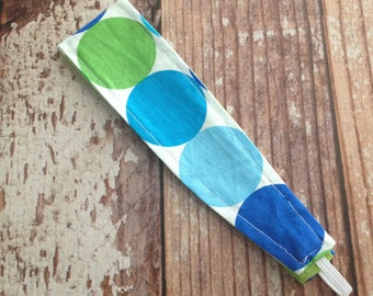 Reversible Fabric Headband -  Toddler Girl, Little Girl, Tween - Disco Dot/Lime Green Polka Dot - READY TO SHIP