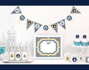 Nautical Baby Shower Decor Kit