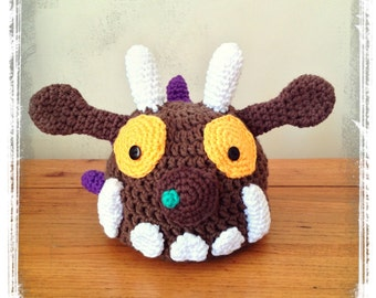 Gruffalo Inspired Beanie Hat with Purple Prickles Newborn to 4T