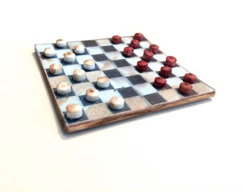"Checkered Board Dollhouse Miniatures 1"""