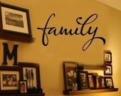 Family - Home Vinyl Wall Decals - Great for Picture Display 39+ Colors & Large Sizes Available