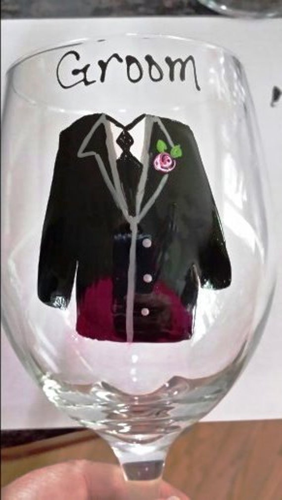 Wedding Gifts For Army Couples : Groomsman Gifts Bridesmaid Wedding Wine Glasses (15.00) Military Army ...