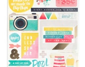 Crate Paper Poolside -  Accent Stickers -- MSRP 4.00