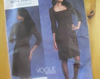 Uncut Vogue Sewing Pattern 1121 - Misses Dress - Badgley Mischka Platinum - Size 6-12