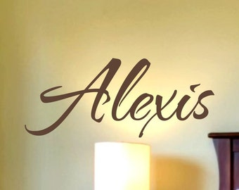 Girls Name Decal Childrens Nursery Vinyl Lettering Girls Monogram Nursery Name Wall Decal Personalized Bedroom Decor7 sizes to choose from