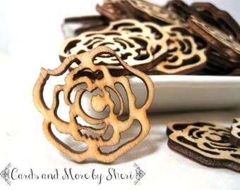Wooden Roses Embellishments