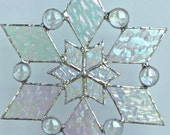 stained glass snowflake suncatcher (design 2)