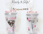 Super Mom Tumbler - Ready To Ship - Baby shower Birthday Mother's Day Gift