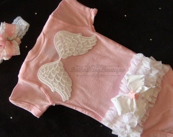 Newborn Girl Take Home Outfit Baby Girl Angel Newborn Outfit Coming Home Outfit Going Home Outfit Photo Prop Outfit Hospital Outfit