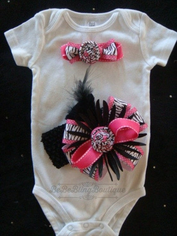 Newborn Baby Girl Take Me Home Outfit Newborn Baby Girl Hospital Outfit Coming Home Outfit Baby Girl Shower Gift Zebra Hot Pink