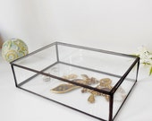RESERVED for Latha. Glass Box Glass Display Box Glass Jewelry Box Wedding Display Box Clear Glass Jewelry Box
