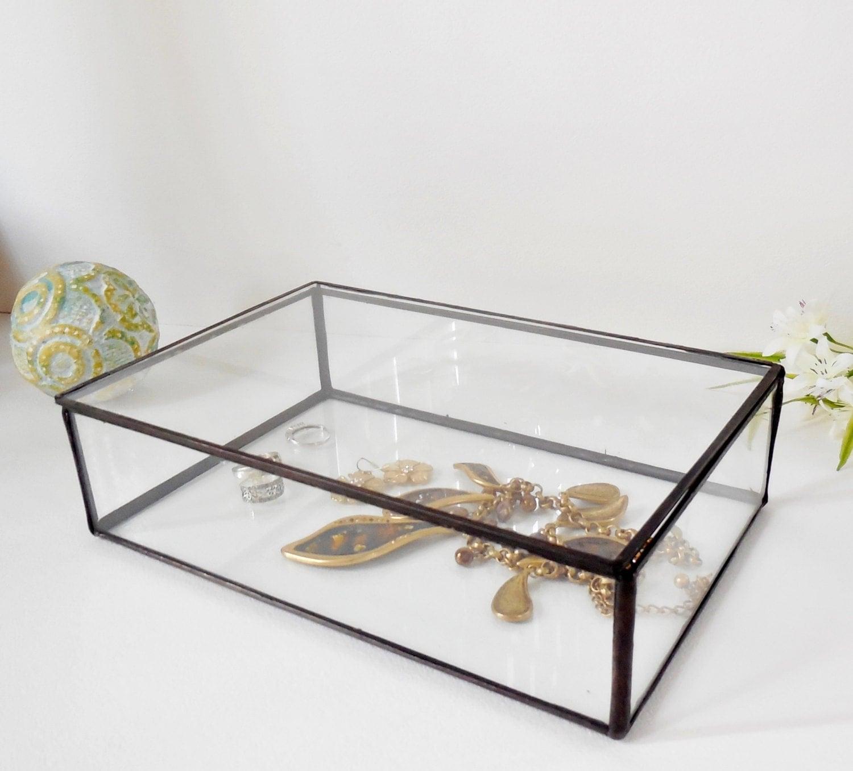 Glass Box Glass Display Box Glass Jewelry Box Wedding Display