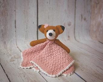 Fleur Fox cotton lovey blanket