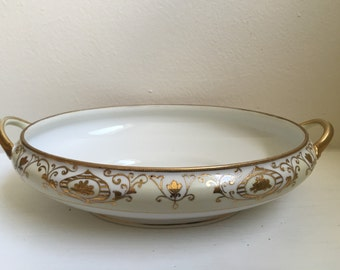 Noritake Christmas Ball Oval Vegetable Bowl