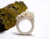 Porcelain ring  *story of moss*