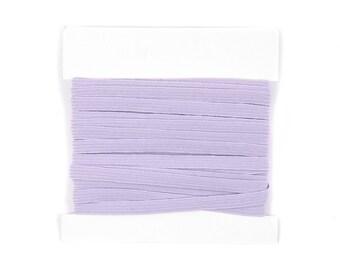 Elastic, 1/4th inch flat elastic for DIY Making Baby Headbands, skinny elastic - 5 or 10 yard bundles - Powder Blue