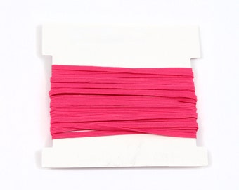 Valentine Stretch Elastic 1/8th inch Skinny Elastic for making headbands - 5 or 10 or 20 yard bundles - SHOCKING PINK