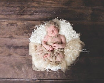 Newborn Mohair Knit Wrap, Newborn Wrap, Ready To Ship, Newborn Photography Prop, Baby Wrap, Mohair Wrap, Cream - The Casey