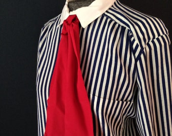 New Girl striped blouse with bow