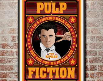 Pulp Fiction: The Hitman Vincent Vega Movie Poster