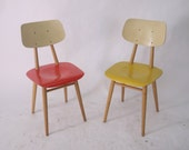 Pair of Vintage 1950's thonet chairs Eastern Europe