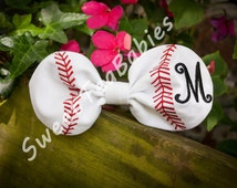 Fabric baseball/softball hair bow in the hoop embroidery design 5 x 7 (FONT NOT INCLUDED)