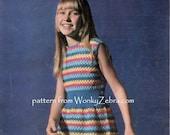 Vintage Crochet girls dress Pattern PDF B094 from WonkyZebraBaby
