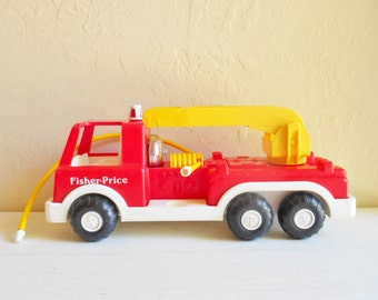Fisher Price Little People Large Fire Truck Firetruck Classic Toy