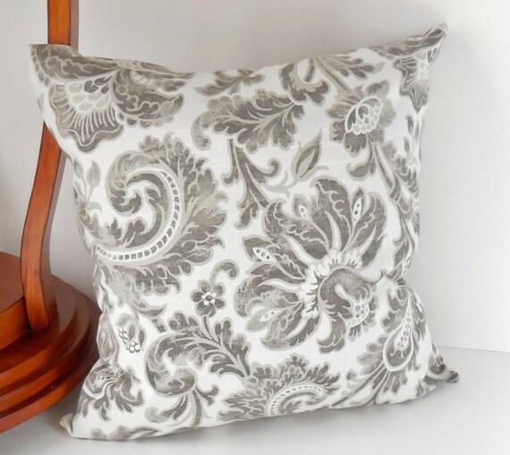 Pillows Decorative Throw Pillows Large Gray Flowers Light
