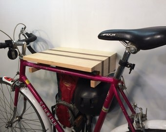 Speedster Bike Rack in Rock Maple and Walnut. Shipping included.