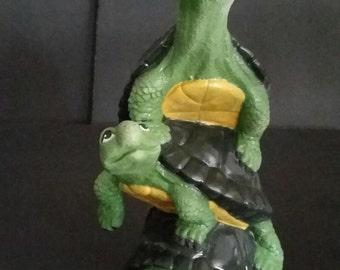 Totem Stack Of Snapper Turtles