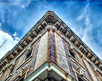 Art Deco Victorian Period Architecture Downtown Urban Landscape Lexington North Carolina Photography Print or Gallery Canvas Wrap Giclee