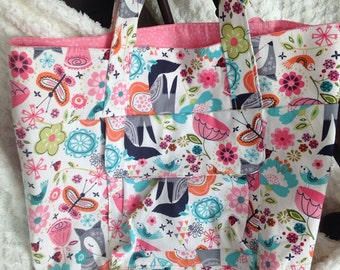 Overnight Bag Tote Travel Bag - Children and Adult - Pink Fox