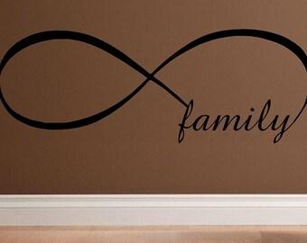 wall decal Infinity symbol Family design infinity infinite love