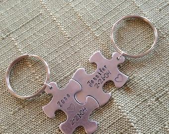 Puzzle Piece Keychains