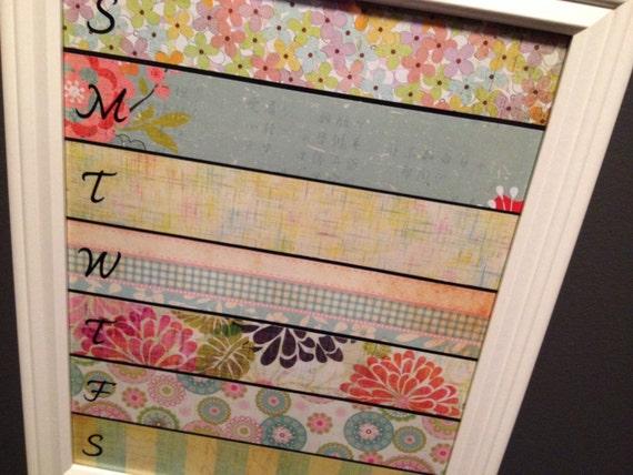 Back to School, Framed Dry Erase Calendar, weekly planner, Dorm room decor, unique gift