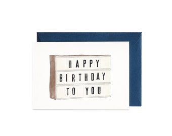 Birthday Lightbox Illustrated Greeting Card