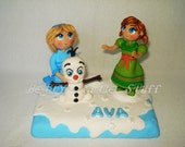 FROZEN Inspired Do you want to build a Snowman theme Cake Topper with name & number