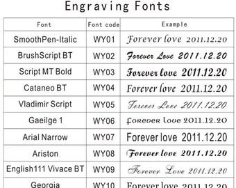 Custom Laser Engraving - Rings Text