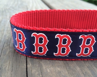 Boston Red Sox dog collar 1 in wide