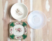 Vintage Eclectic Small Plate Set - Mixed Decorative Plates