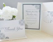 Lace and calligraphy Invitation set