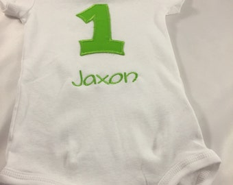 Boys 1st Birthday, Cake Smash Outfit, Boys Birthday, Personalized Shirt, Birthday Shirt, 1st Birthday Outfit, Green Birthday