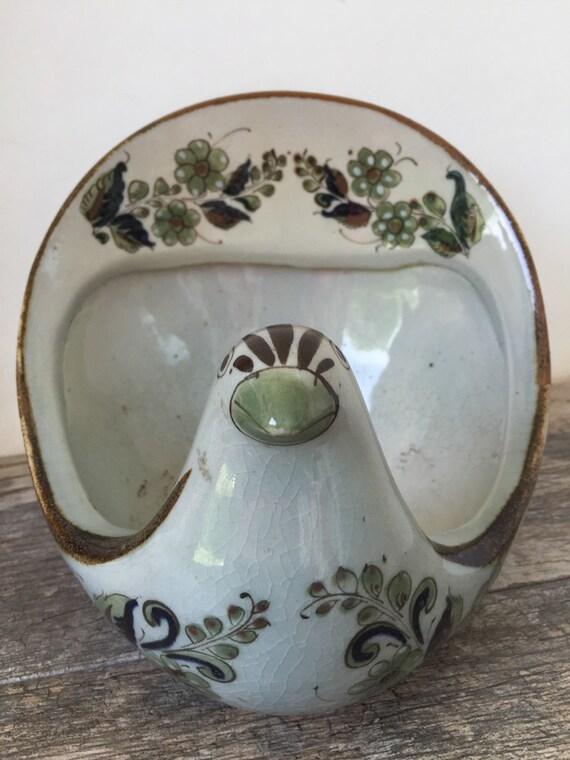 Vintage Large KEN EDWARDS Mexican Pottery Dove Stoneware Planter Signed